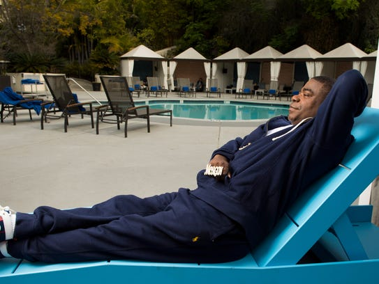 Tracy Morgan chills at the W Hotel in Los Angeles.