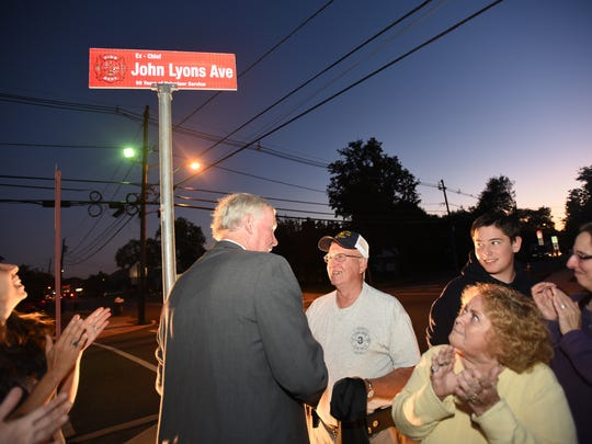 John Lyons (age 78) who joined the Fair Lawn Fire Department