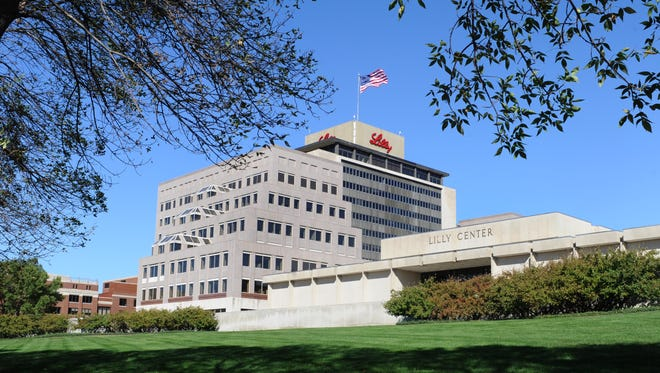 Eli Lilly and Co. corporate headquarters at Delaware and McCarty streets in Downtown Indianapolis.