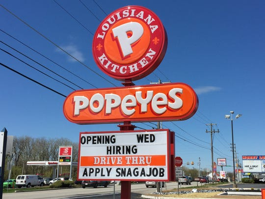 Popeyes opened in Lebanon on May 2, more than a week after passing its first health inspection on April 24.