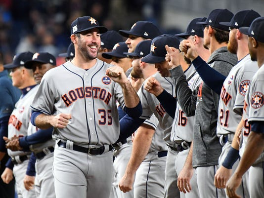 USP MLB: ALCS-HOUSTON ASTROS AT NEW YORK YANKEES S BBA NYY HOU USA NY