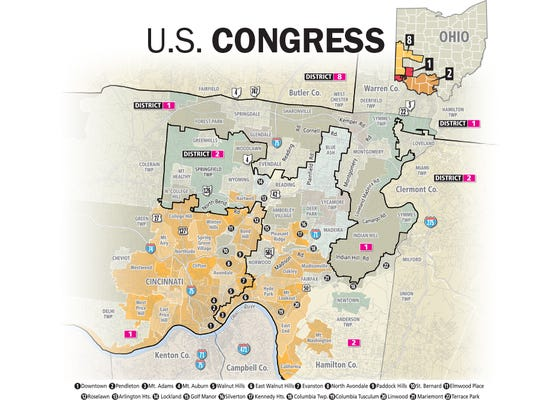Map Of Southwest Ohio Congressional Distrcts