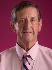 Michael Blair with the Autauga County Relay for Life Men in Pink fundraiser is shown in Montgomery, Ala. on Thursday October 13, 2016.