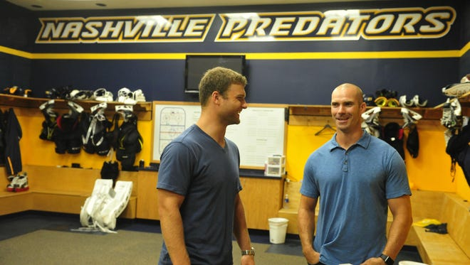 Cody Hodgson and Barret Jackman, who signed with the Predators in July, are day-to-day with upper-body injuries.