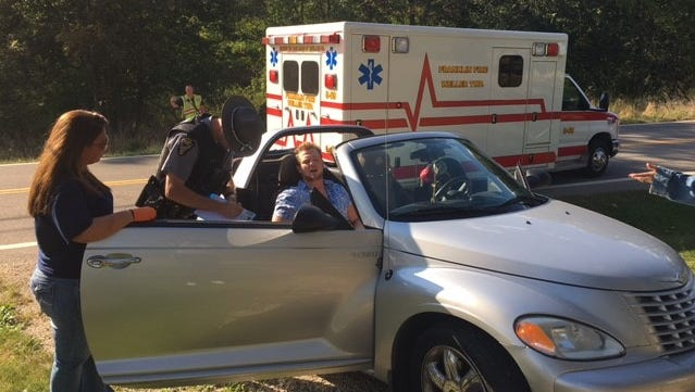 A local man said he swerved to avoid a car on Ohio 545 Friday at Epworth and flipped his vehicle on its top. He had minor injuries and passers-by stopped to help him.