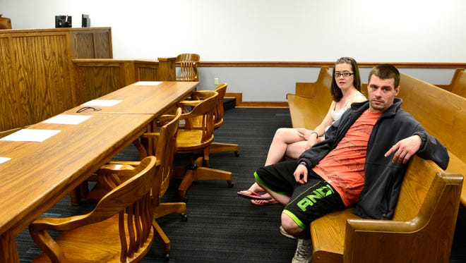 Andrew Laubacher, 29, of Fremont is now two months into Sandusky County's drug court program. He said he is trying to put his life back together through regular addiction recovery meetings and Vivitrol to curb his opiate cravings. After losing his children to drug addiction, he and his wife, Tasha, 25,hope to regain custody in July.