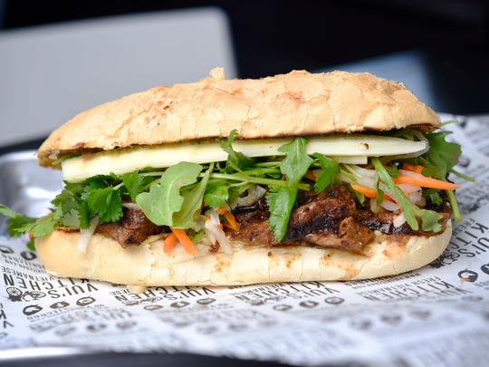 Banh mi sandwich with beef at Vui's Kitchen.