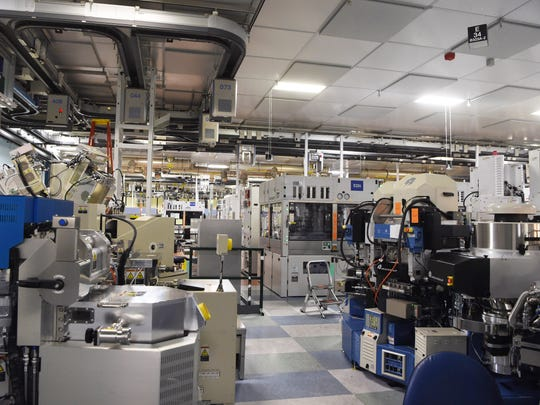 """A view of the """"clean room area"""" inside GlobalFoundries'"""