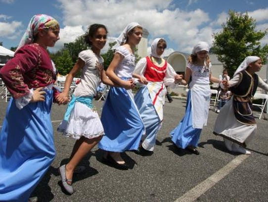 Dancers perform during the annual Greek Festival at