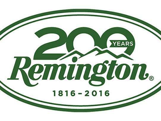 Image shows Remington logo commemorating the company's