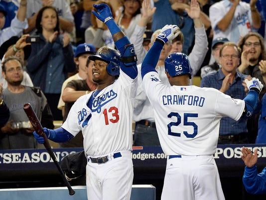 USP MLB: NLDS-ATLANTA BRAVES AT LOS ANGELES DODGER S BBN USA CA