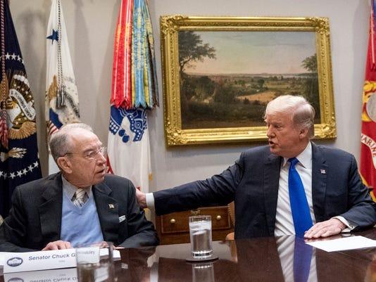 Donald Trump, Chuck Grassley, Kirstjen Nielsen