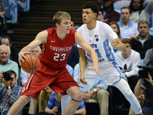 NCAA Basketball: Davidson at North Carolina