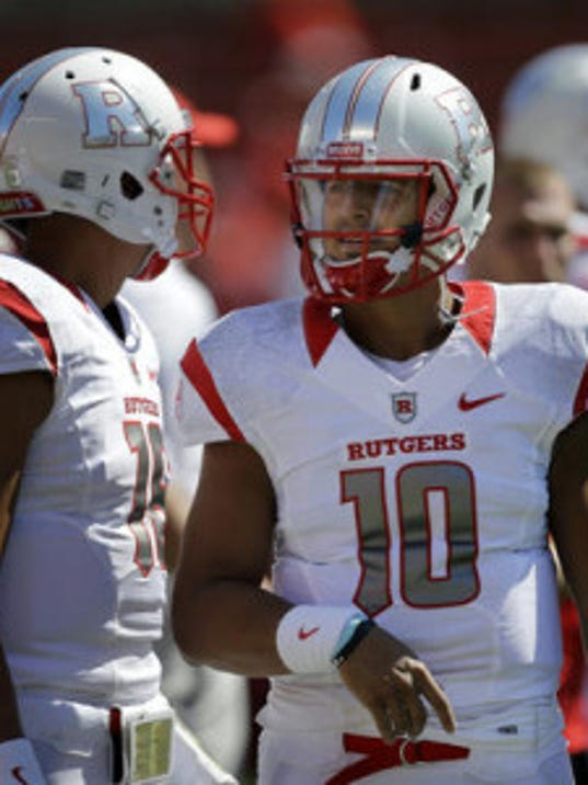 The Rutgers football starting quarterback job is Gary Nova's to lose during training camp. (AP)
