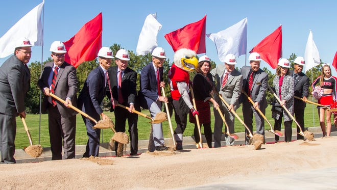 Southern Utah University held a groundbreaking ceremony for the George S. Eccles Sports Performance Center on Friday, October 6, 2017.