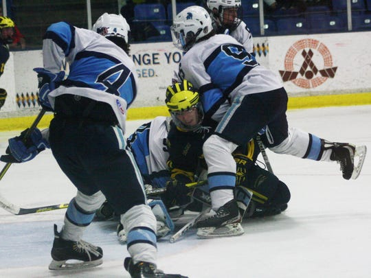 Stevenson's defense made life difficult for Hartland's forwards throughout Thursday's game.