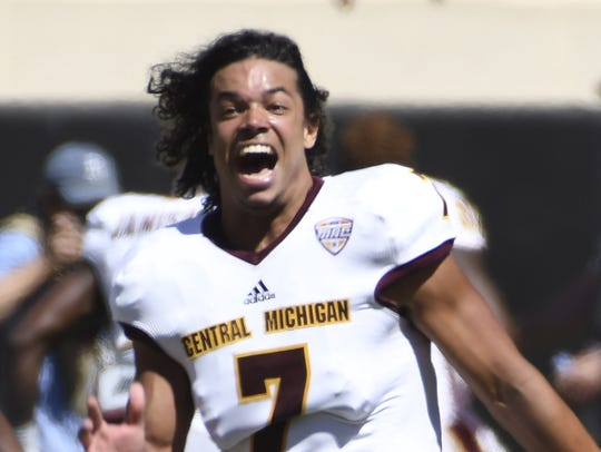 Central Michigan defensive back Amari Coleman