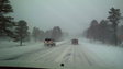 A winter storm dropped snow and rain on Arizona, creating
