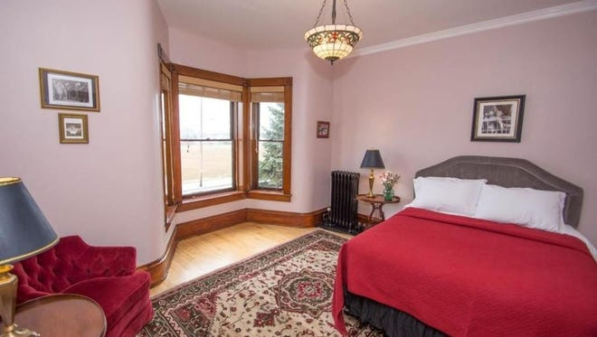 The Riverview Room at Rectified, a bed and breakfast in the former St. Luke's Catholic Church rectory in Two Rivers.
