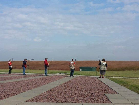 Members of the Simpson College shooting sports club