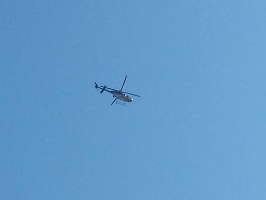 A state police helicopter was brought in during a six-hour