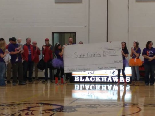 A fundraiser during the Port Edwards boys' basketball