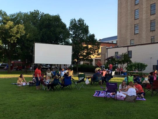 """Get a good spot on the lawn for """"The Lego Movie"""" this"""