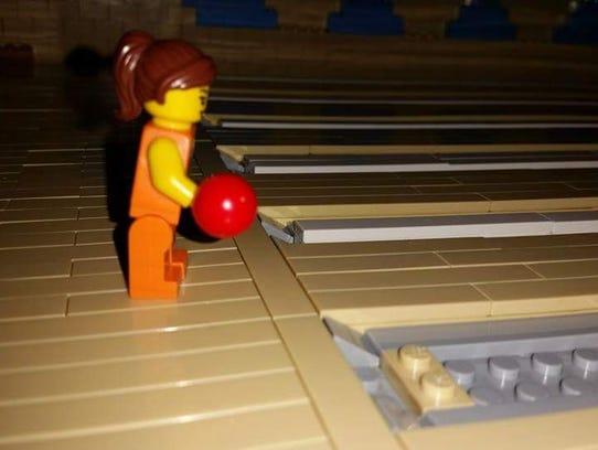 Scott Shelnutt has been using Legos to build a bowling