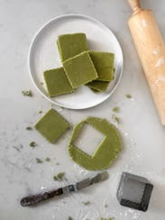 Matcha shortbread cookies from Erie Coffeeshop & Bakery