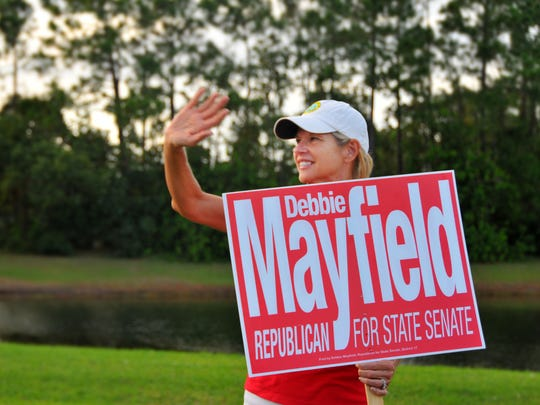 Senator Debbie Mayfield has been out campaigning all