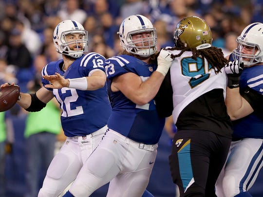 The Colts have young talent such as Joe Haeg (73) and