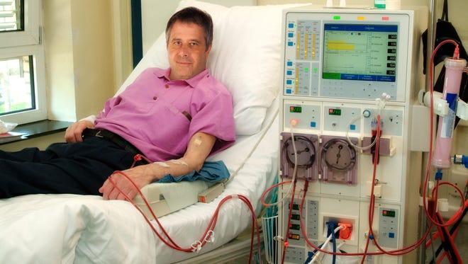 Patient bei der Dialyse in der Klinik
