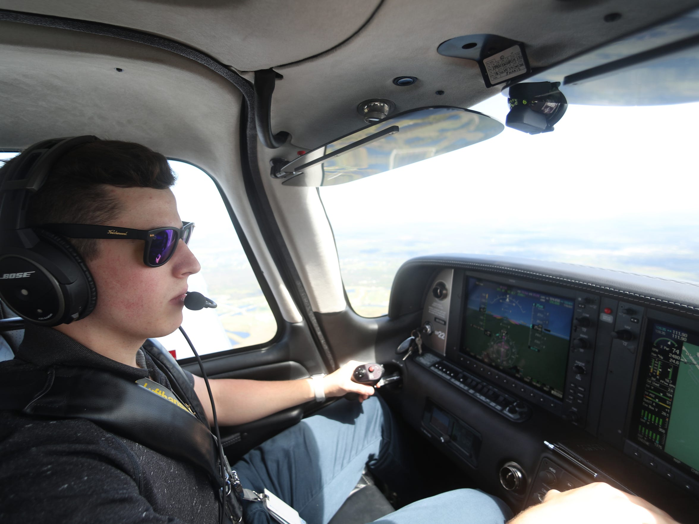 Pilot Dylan Leoni, a sophomore pre-med student at Florida State University, flies his family's Cirrus SR-22 down from Tallahassee to LaBelle, Fla., to deliver donated supplies to the rural city that is still reeling from the devastation of Hurricane Irma.
