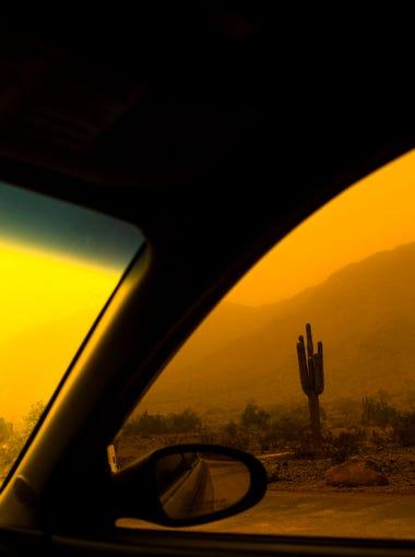 Phoenix Dust Storm passes through South Mountain on Sept 6, 2014.