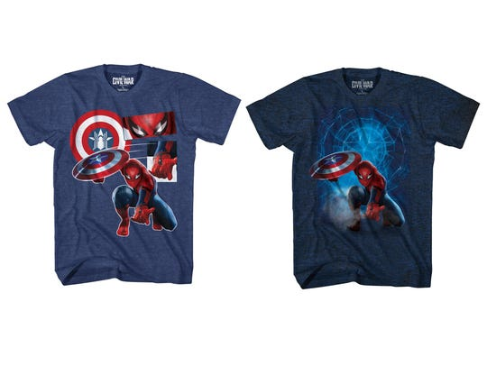 Two new Spider-Man shirts are coming from Walmart in