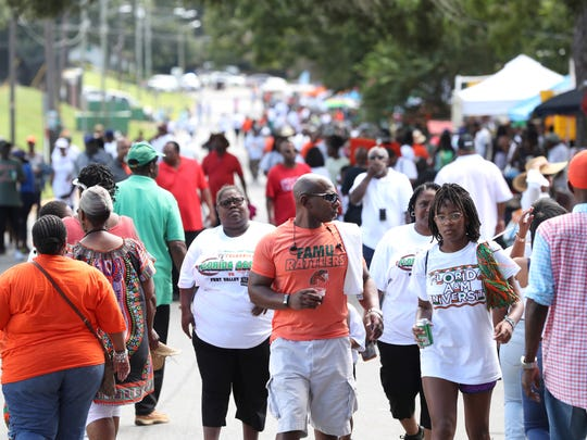 Pre-game scene at Bragg Memorial Stadium before the FAMU Rattlers take on Fort Valley State University to open the season on Saturday, Sept. 1, 2018.