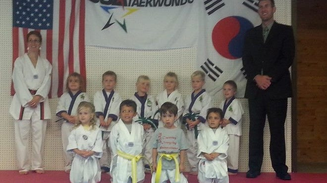 The Little Dragons class at Five Rings Martial Arts tested for promotion on Sept. 21.