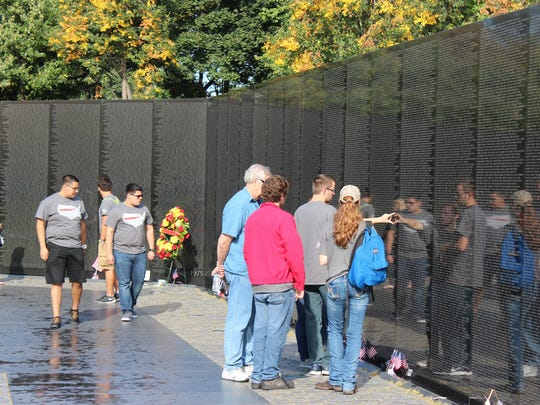 The Vietnam Veterans Memorial is on the National Mall in Washington, D.C.
