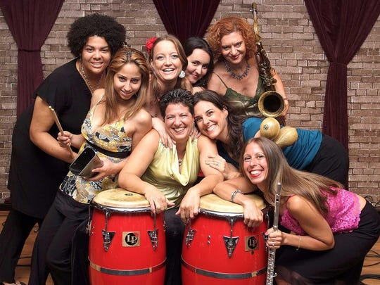 "CocoMama, an international group of women based in New York City who play hard-hitting, original Latin music deeply rooted in Afro-Caribbean rhythms, will perform two numbers in ""Songs of Protest 3,"" one plaintive and the other triumphant: ""It's a Man's World"" and ""I Will Survive."""