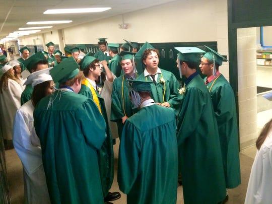 Webutuck High School graduates prepare for commencement.