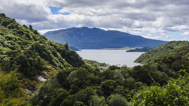 New Zealand's Lake Rotomahana was the site of a ferocious volcanic eruption in 1886 that buried the famed Pink and White Terraces.