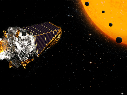 An artistic rendering of NASA's Kepler Space Telescope