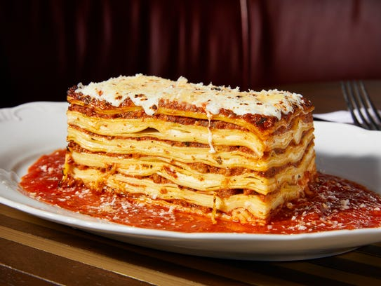 Mom's Lasagna is a specialty of the house at Angline