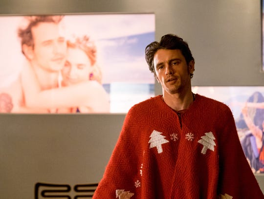 James Franco makes a statement in this Christmas sweater