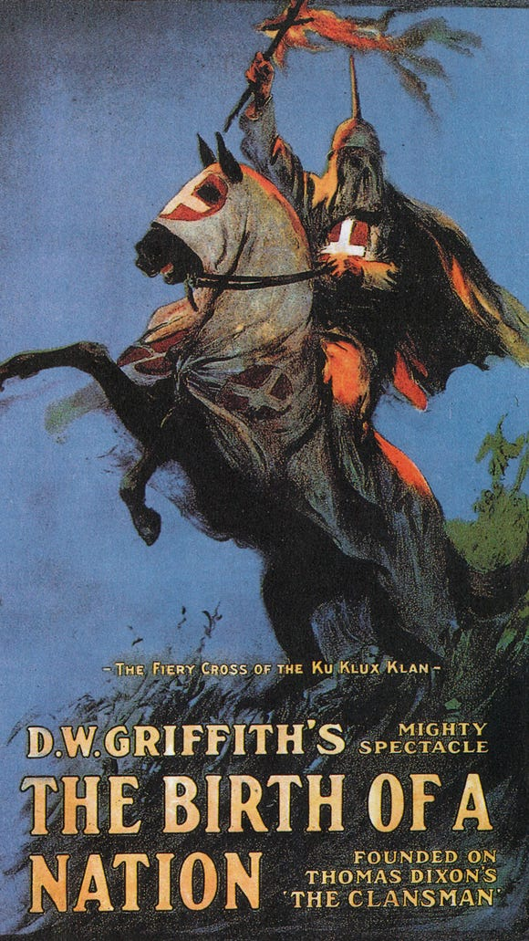 """""""Birth of a Nation"""" theatrical poster."""