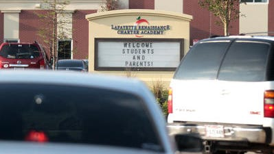 Lafayette Renaissance Charter Academy is pictured on the first day of school in August 2014.
