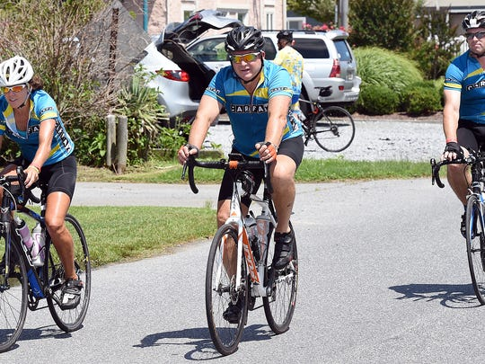 """File photo: """"Bike to the Beach"""" charity event for Autism was held on Friday, July 29, 2016, as hundreds of bikers peddled from Washington, D.C. ending at Northbeach in Dewey Beach."""