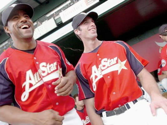 Catcher Luis Taveras and first baseman Nate Espy became two of the first three Revs selected as All-Stars in 2007 (YDR File).