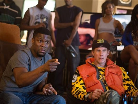 """In this image released by Warner Bros. Entertainment Inc., Kevin Hart, left, and Will Ferrell appear in a scene from the film, """"Get Hard."""" (AP Photo/Warner Bros. Entertainment Inc., Patti Perret)"""