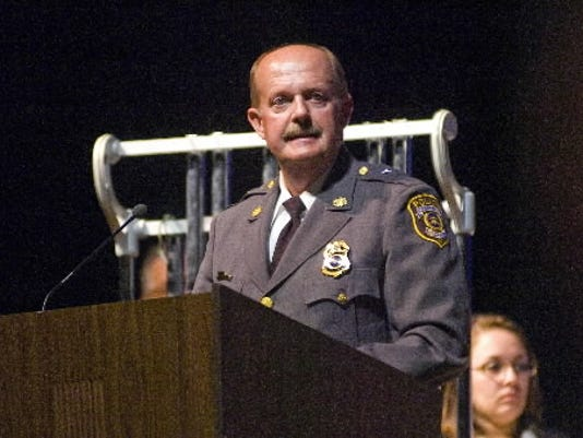 Former Hanover Police Chief Randy Whitson has passed away. He is pictured here in a photo taken at South Western High School in 2011.